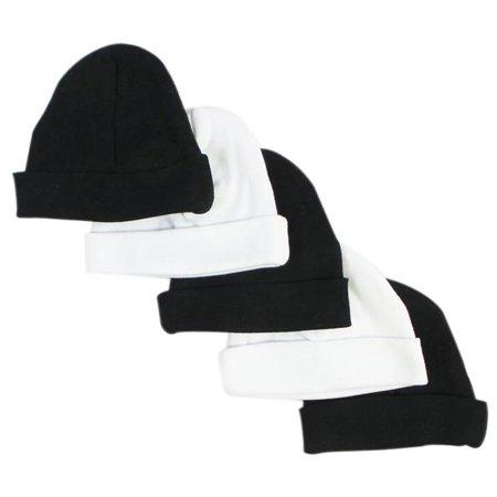 Baby Caps, Black & White - Pack of 5 - image 1 de 1