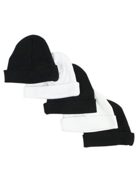 Baby Caps, Black & White - Pack of 5