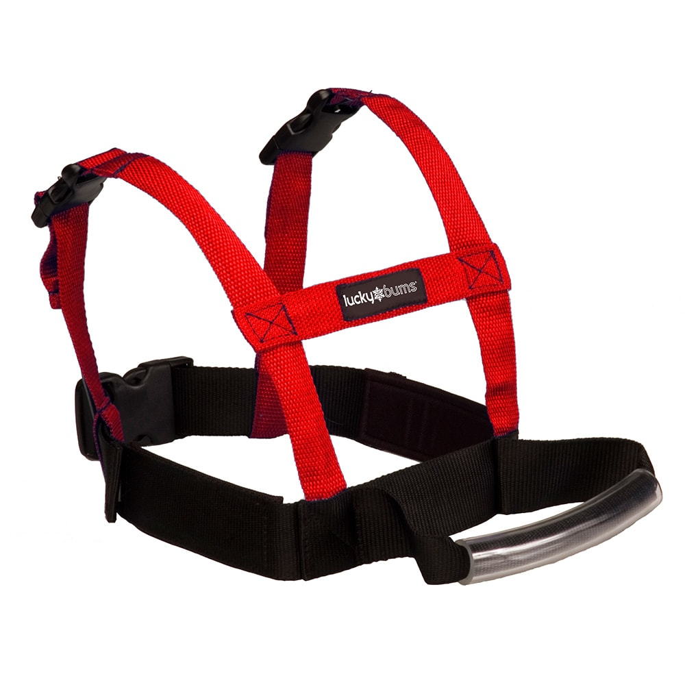 Lucky Bums Grip N Guide Kids Beginner Ski Training Harness, Red