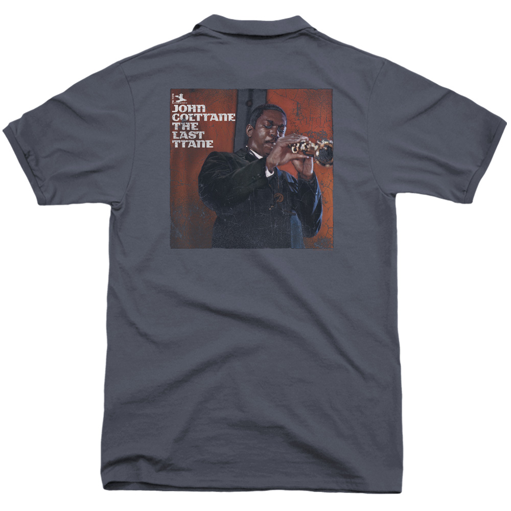 John Coltrane Last Train (Back Print) Mens Polo Shirt