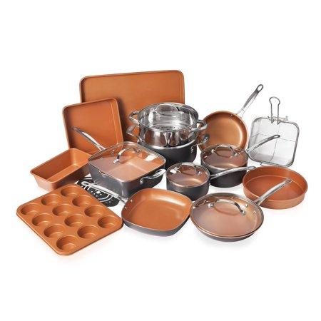 Gotham Steel 20 Piece All in One Kitchen, Nonstick Cookware & Bakeware Set