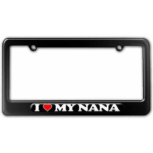 I Love Heart My Nana Grandmother License Plate Tag Frame