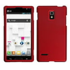 Insten Titanium Solid Red Phone Case for LG: P769 (Optimus L9)