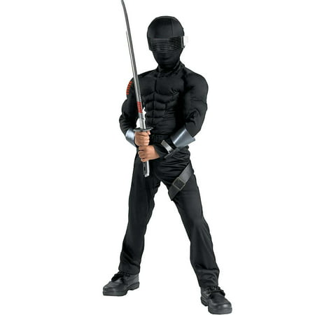 Gi Joe Costume (Boy's Roc Snake Eye Classic Muscle Halloween Costume - G.I. Joe)