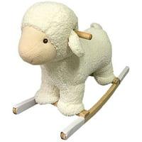 Plush Rocking Lamb (White)