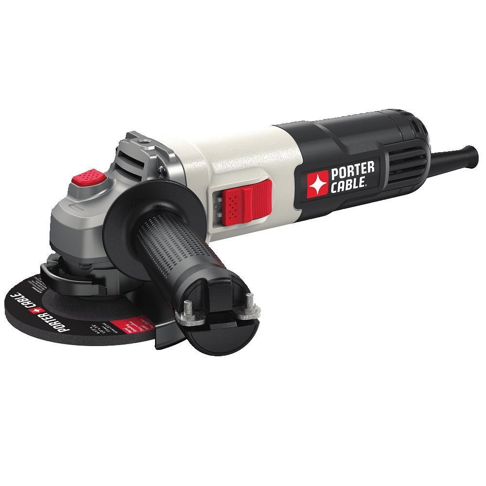 "Porter Cable PCE810 6.0 Amp 4-1 2"" Small Angle Grinder by Stanley Black & Decker"