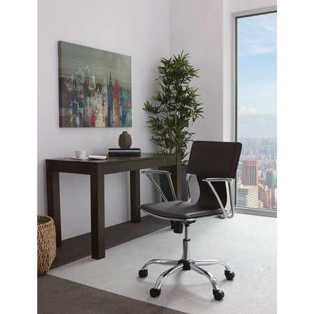 Office Star Products Dorado Chair With Fixed Padded Arms And Chrome Finish