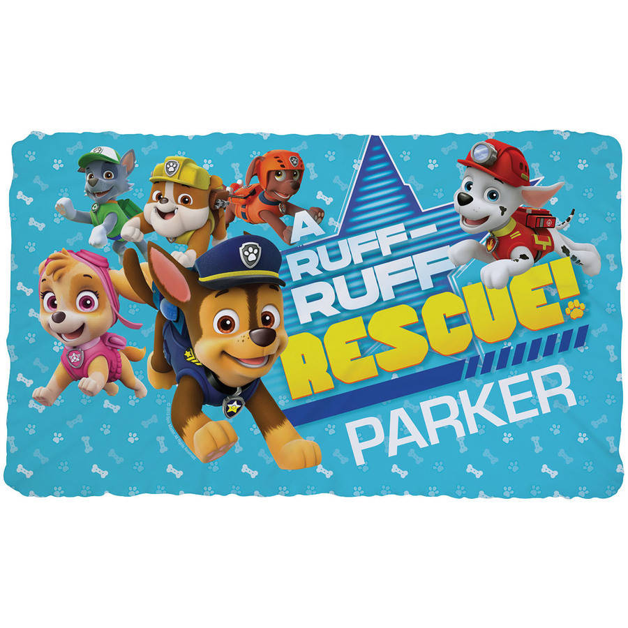 Personalized PAW Patrol Kids Fuzzy Fleece Blanket