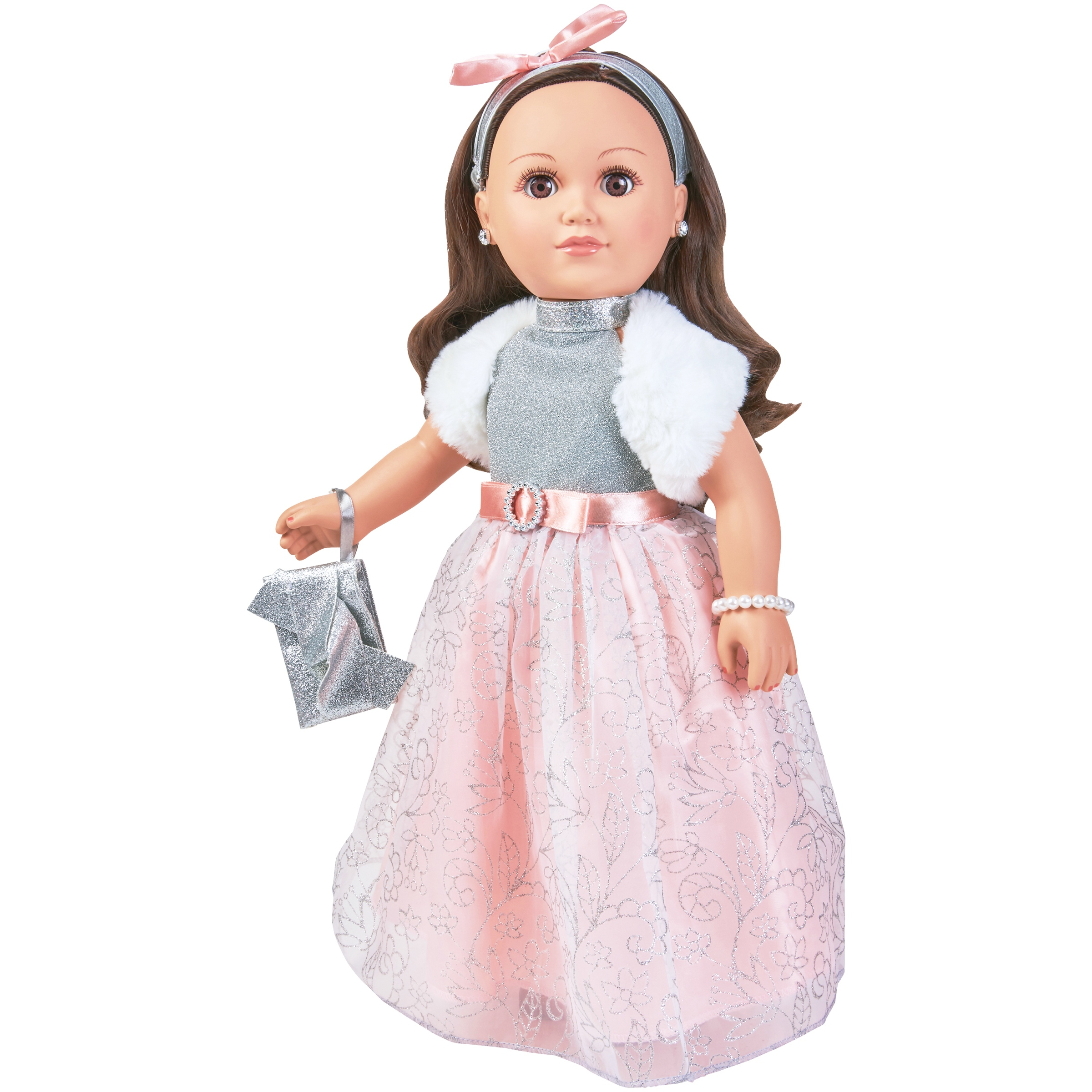 "My Life As 18"" Poseable Winter Princess Doll, Brunette with a Soft Torso"