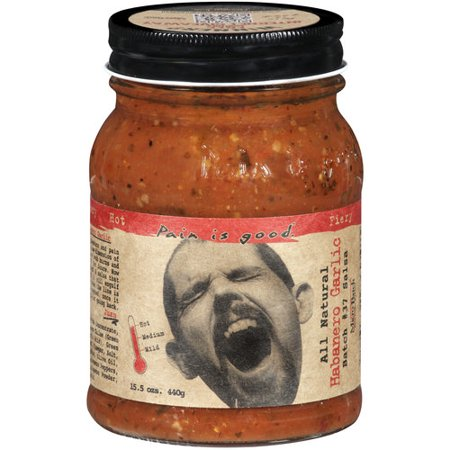 Pain Is Good Batch #37 Habanero Garlic Hot Salsa, 15.5 oz