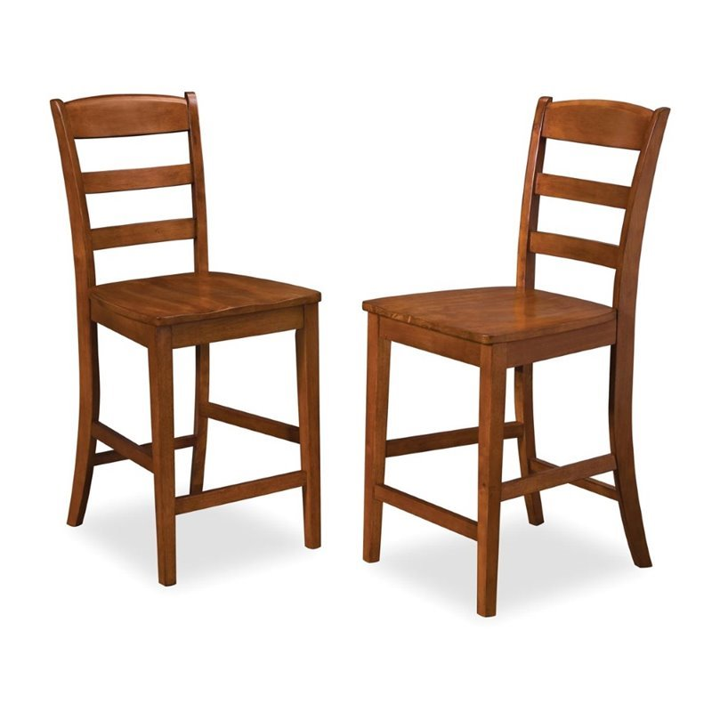 "Bowery Hill 29"" Bar Stool in Rustic Cherry"
