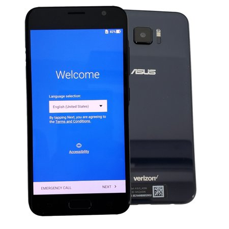 ASUS ZenFone 5 V A006 V520KL 32GB Black Verizon Unlocked Smartphone Cell Phone - Excellent