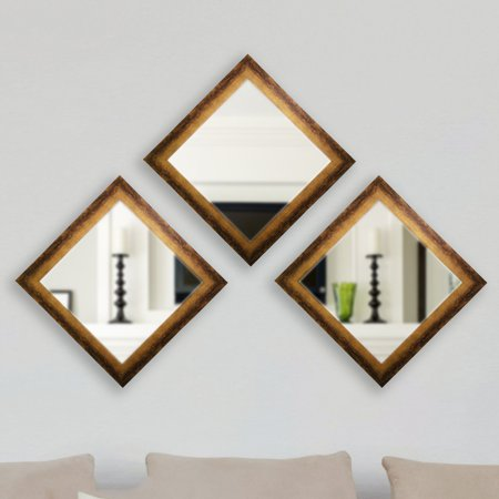 Rayne Mirrors Emerson Addison Sterling Square Wall Mirror Set Of 3 Com