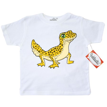 Inktastic Cute Leopard Gecko Toddler T-Shirt Pets Reptiles Lizard Herpatology Herpatologist Spots Love Pet Herp Tees. Gift Child Preschooler Kid Clothing Apparel