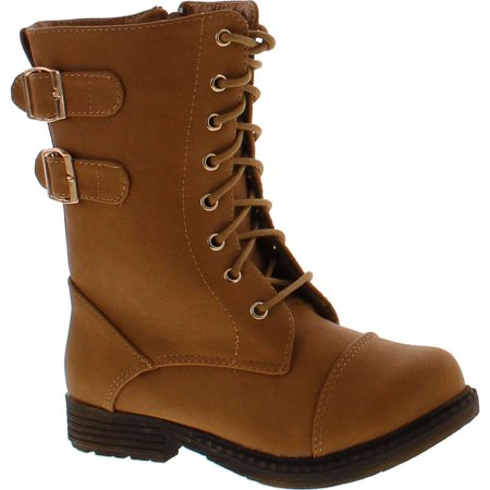lucky top lash 1 girls military combat boots](Toddler Girls Combat Boots)