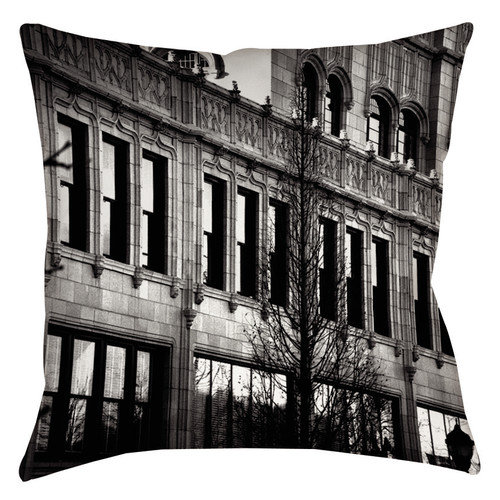 Thumbprintz Urban Fa ade Printed Throw Pillow