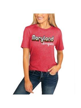 Maryland Terrapins Women's Throwback Varsity Vibes Boyfriend T-Shirt - Red