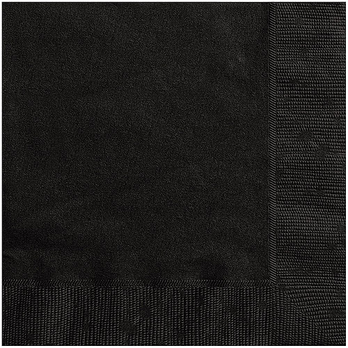 Black Cocktail Napkins, 20ct by Unique Industries