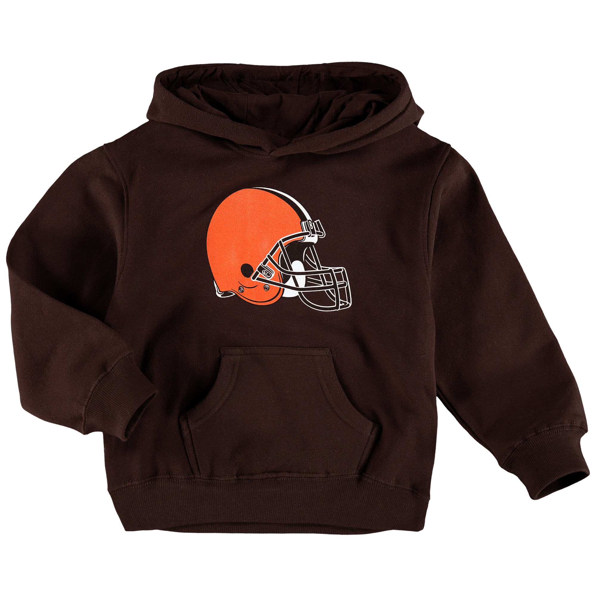 Cleveland Browns Toddler Team Logo Fleece Pullover Hoodie - Brown - 4T