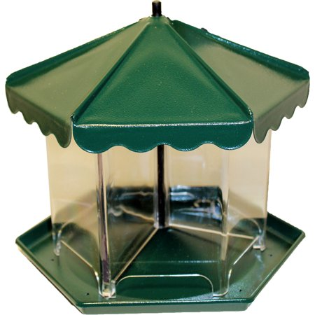 Apollo Investment Holding-Mini Triple Bin Party Seed Feeder (no Hardware)- Green 5.5 Lb