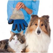 Massage True Glove Touch Gentle Efficient Pet Grooming Dogs Cats Cleaning Bath