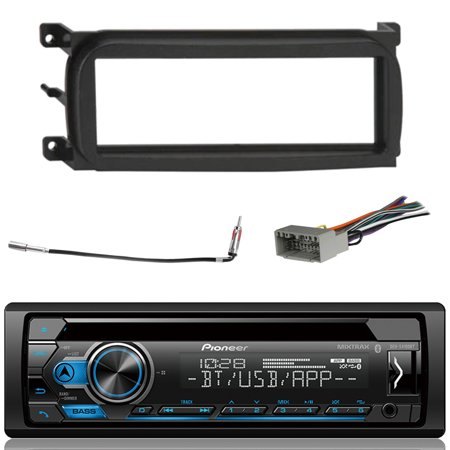 Pioneer DEH-S4100BT Bluetooth In-Dash CD Car Stereo Audio Receiver Bundle Combo W/ Enrock EDJCDK98UP Installation Kit For 1998-Up Chrysler/Dodge/Jeep Vehicles + Antenna Adapter Cable + Radio Wiring Ha (Kit De Cables Car Audio)