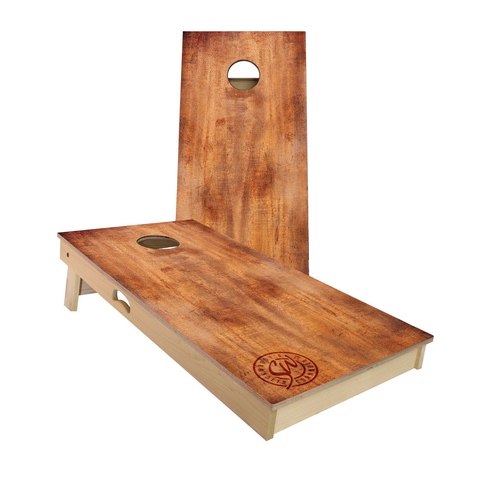 Slick Woody's Burnt Wood Regulation Size Cornhole Board Beanbag Toss Game Set by Slick Woody's Cornhole Co.
