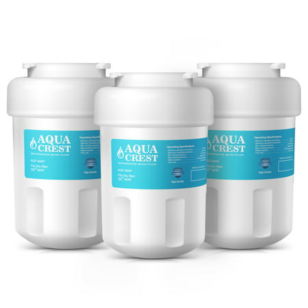 3 Pack AQUACREST MWF Replacement for GE MWF, Kenmore 46-9991 Refrigerator Water Filter