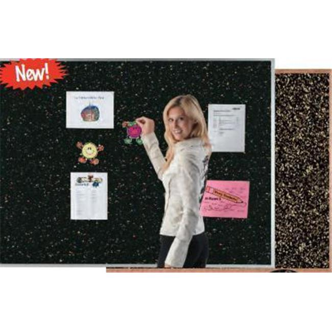 AARCO Products DRC48120RED Aluminum Frame Red Rubber Cork Bulletin Board