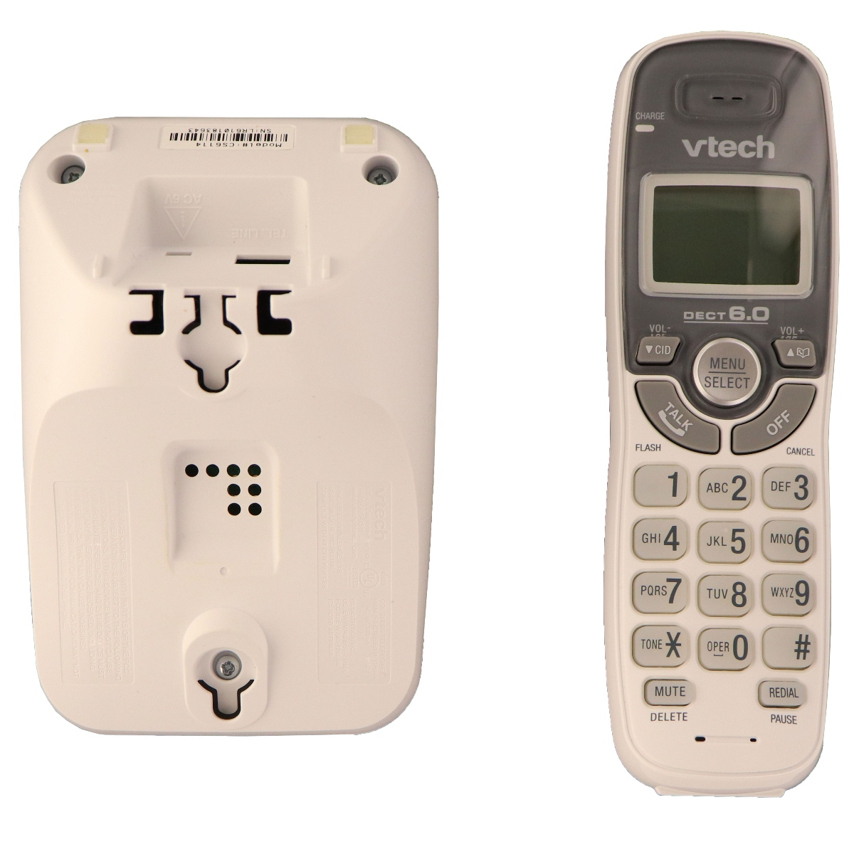 VTech CS6114 DECT 6.0 Cordless Phone with Caller ID/Call - White (Refurbished)