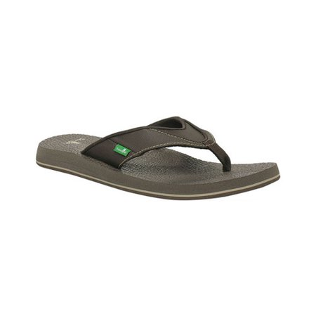 Men's Sanuk Beer Cozy Thong Sandal Sanuk Mens Leather