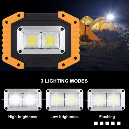 2 Pack LED Flood Light ,Rechargeable IP65 Outdoor Security Garden Landscape Spot Lamp Yard Spotlight, 30W 800LM - image 4 of 10