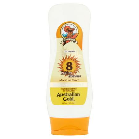 Australian Gold Moisture Max Sunscreen Lotion, SPF 8, 8 fl