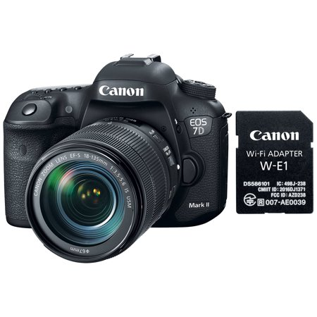 - Canon EOS 7D Mark II Digital SLR Camera & EF-S 18-135mm IS USM Lens & Wi-Fi Adapter Kit