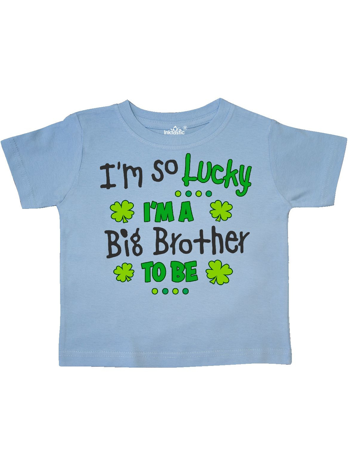 Green clover I'm a Big Brother to be Toddler T-Shirt