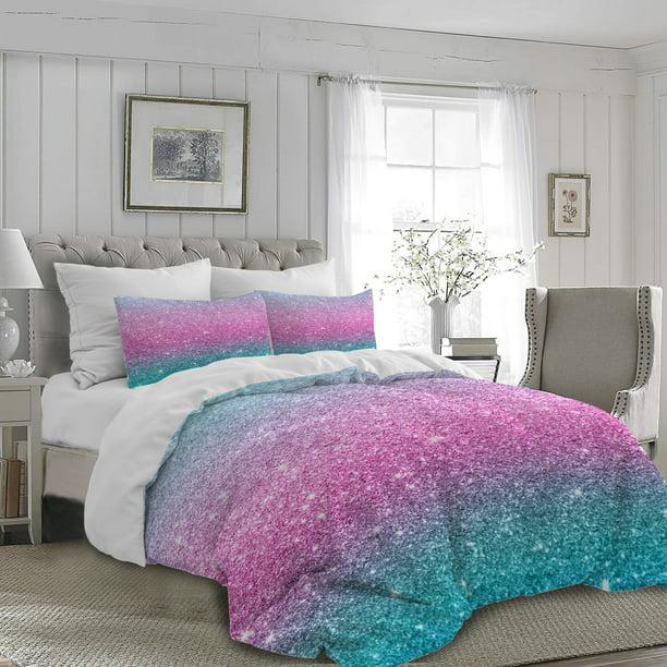 Arightex Colorful Glitter Mermaid, Mermaid Bedding Twin
