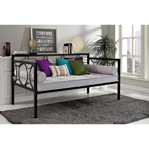 DHP Rebecca Contemporary Metal Daybed Frame, Multiple Colors