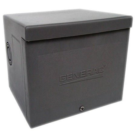 Volt Power Box - Generac 6338 Resin Enclosure/Glass-Filled Nylon Raintight Power Inlet Box 125/250 Volt AC 50 Amp