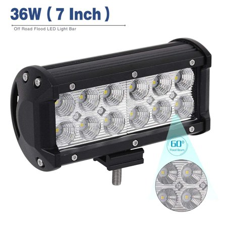6a2e9d5b984 YITAMOTOR Led Light Pod, 7inch Flood LED Work Light, Off-Road Driving Fog