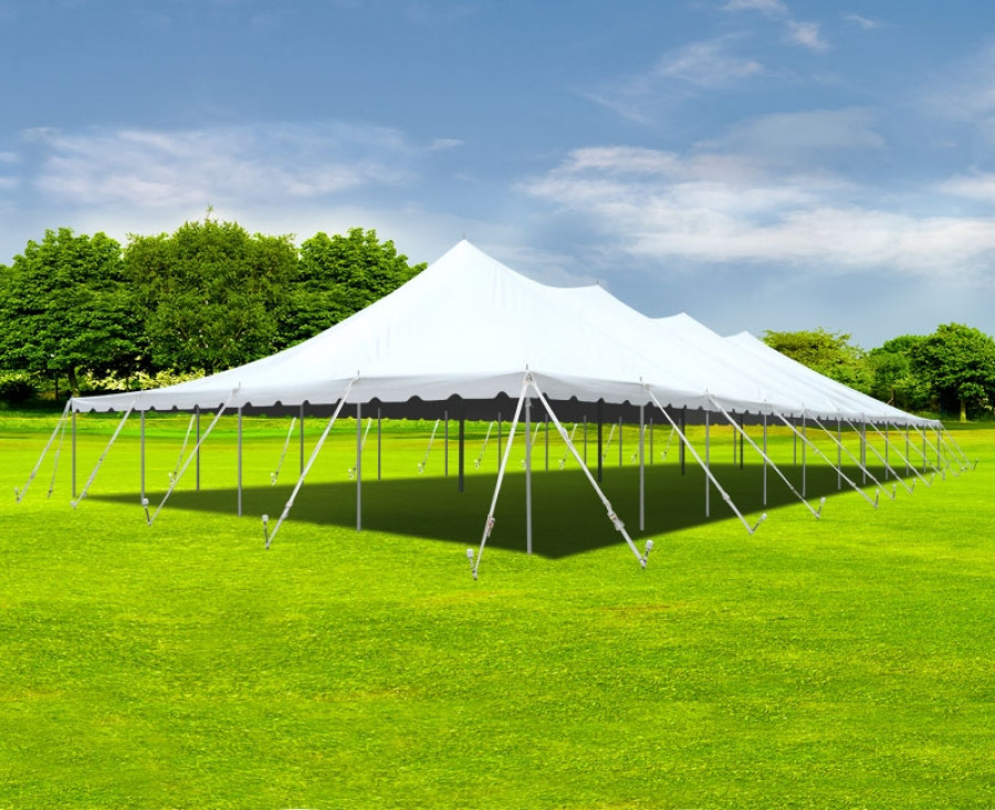 224 & Party Tents Direct White Sectional Outdoor Wedding Canopy Pole Tent (40x60)