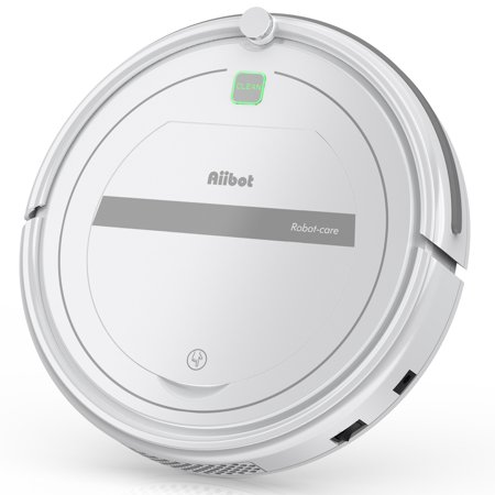 Aiibot Robot Vacuum, Robotic Vacuum Cleaner for Pet Hair with Remote Control, Self-recharging, Multi-task Schedule, Good For Hard Floor and Low Pile Carpet