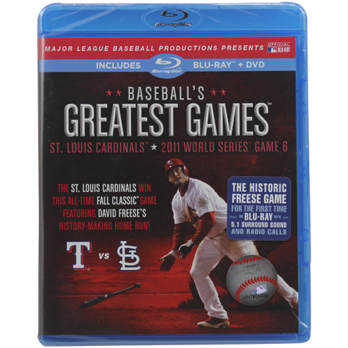 Baseball's Greatest Games: 2011 World Series Game 6 - St. Louis Cardinals Vs. Houston Astros (Blu-ray + DVD)