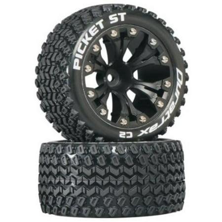 Duratrax Picket ST 2.8 Truck 2WD Mntd 1/2 Offset C2 Tires (2-Piece),