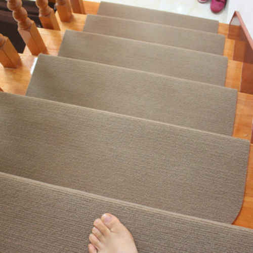 13Pcs Non Slip Carpet Stair Treads Mats Staircase Step Rug Protection Cover  Set(21.65u0027u0027X9.45u0027u0027)