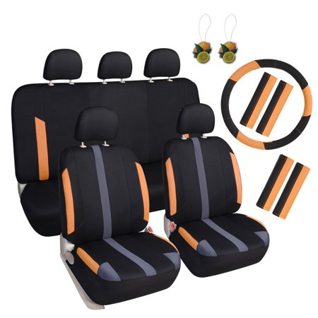 leader accessories universal sport mesh cloth 17pcs auto car seat
