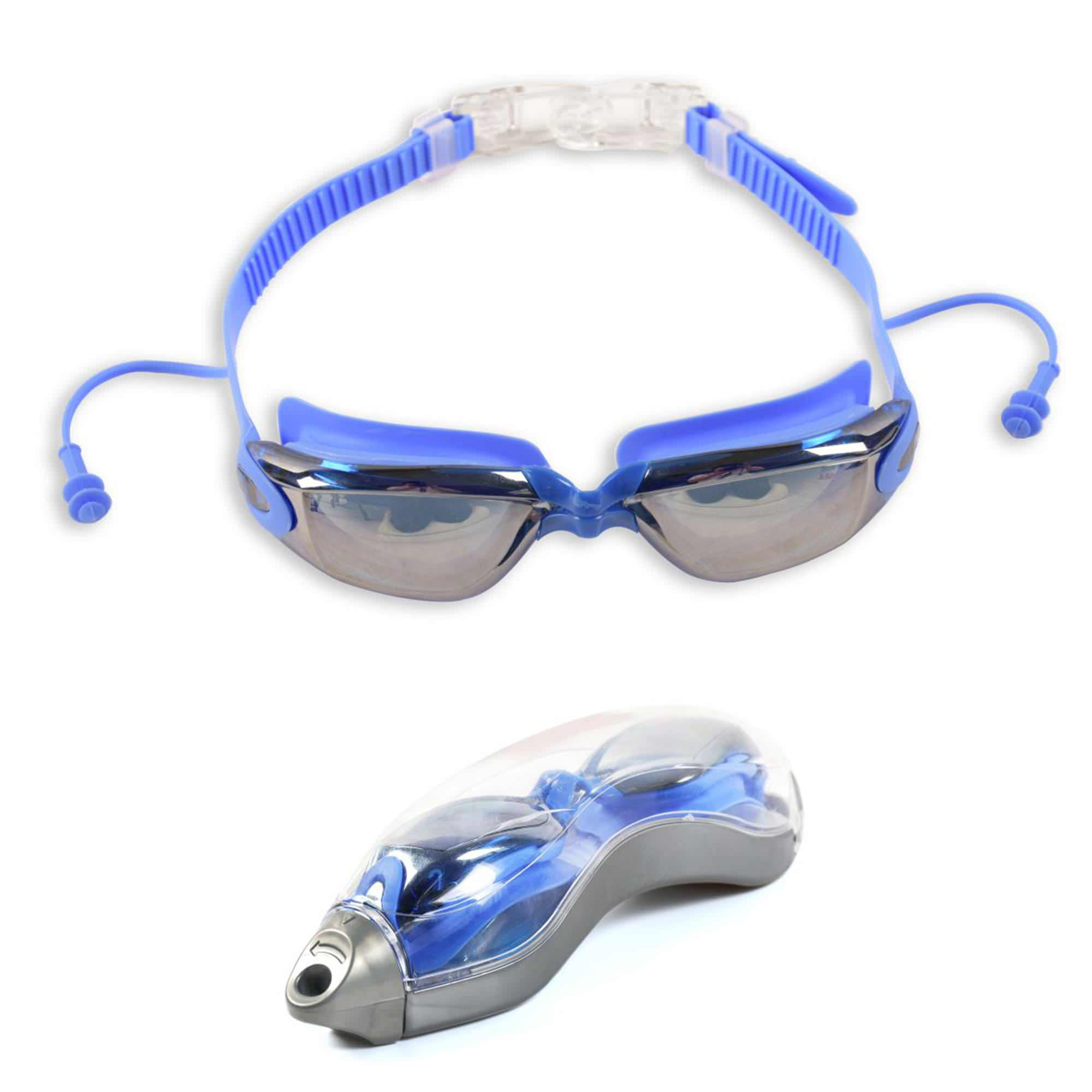Adult Swim Goggles - No Leaking,Anti- Fog,UV Protection Swimming Goggles With Free Protective Case and Ear Plug,Black
