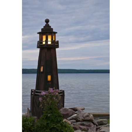 USA, Michigan. Yard decoration lighthouse on Munising Bay. Print Wall Art By Anna Miller](Usa Decorations)