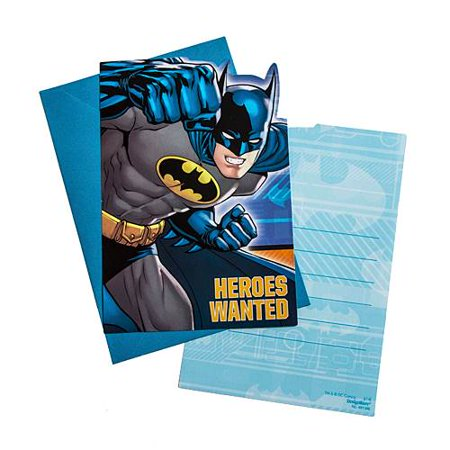 DC Comics Batman Superhero Birthday Boy Party Invitations 16 Count with Save the Date Stickers](Superhero Party Invitations)