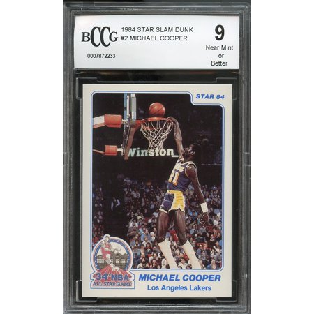 - 1984 star slam dunk #2 MICHAEL COOPER los angeles lakers BGS BCCG 9