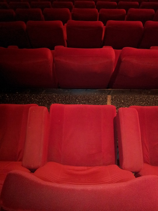 Laminated Poster Red Cinema Chairs Chair Poster 24x16 Adhesive Decal